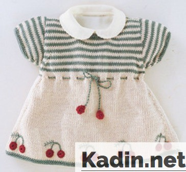 derya baykal kiraz motifli bebek elbise